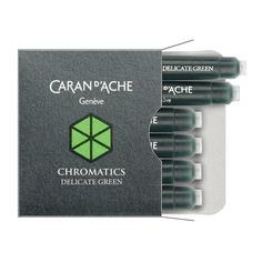 Картридж Carandache Chromatics (8021.221) Delicate green чернила для ручек перьевых (6шт)