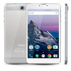 Планшет GINZZU GT-7210, 1GB, 8GB, 3G, 4G, Android 7.0 серебристый [00-00001034]