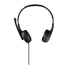 Наушники с микрофоном HAMA Essential HS 300, мониторы, черный / серебристый [00053982]