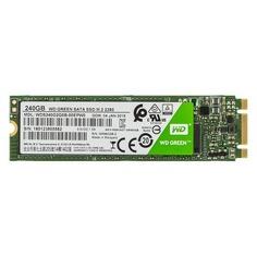 SSD накопитель WD Green WDS240G2G0B 240Гб, M.2 2280, SATA III