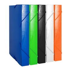 Папка-короб на резинке Бюрократ Galaxy -GA520 пластик 0.7мм корешок 40мм A4 330х240х40мм ассорти