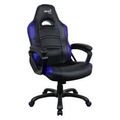 Кресло игровое AEROCOOL AC80C AIR-BB, на колесиках, полиуретан [525113]