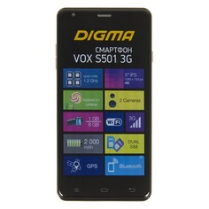 Смартфон DIGMA S501 3G + Navitel VOX, темно-синий