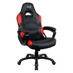 Кресло игровое AEROCOOL AC80C AIR-BR, на колесиках, полиуретан [525109]
