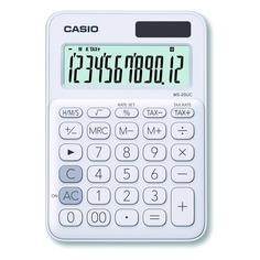Калькулятор CASIO MS-20UC-WE-S-EC, 12-разрядный, белый