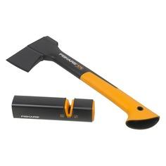 Топор Fiskars Х7 малый черный/оранжевый (в компл.:точилка) (1020183)