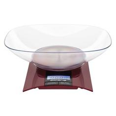 Весы кухонные POLARIS PKS 0349DL, бордовый
