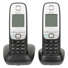 Радиотелефон GIGASET A415 Duo, черный