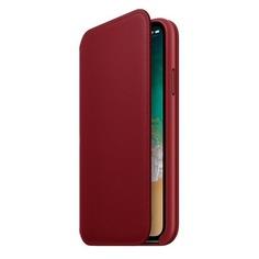 Чехол (флип-кейс) APPLE MRQD2ZM/A, для Apple iPhone X, красный