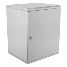 Шкаф коммутационный ЦМО (ШРН-Э-15.650.1) 15U 600x650мм пер.дв.стал.лист несъемн.бок.пан. серый