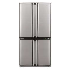 Холодильник SHARP SJ-F95STSL, двухкамерный, серебристый