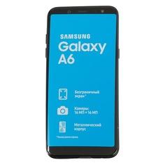Смартфон SAMSUNG Galaxy A6 (2018) 32Gb, SM-A600F, черный