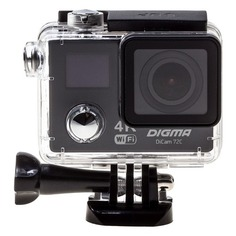Экшн-камера DIGMA DiCam 72C 4K, WiFi, черный [dc72c]
