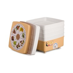 Сушилка для овощей и фруктов РОТОР Дива Люкс СШ-010-04, белый, 5 поддонов