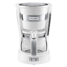 Кофеварка DELONGHI ICM14011.W, капельная, белый [132301115] Delonghi