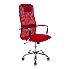 Кресло руководителя БЮРОКРАТ KB-9, на колесиках, сетка, красный [kb-9/r/tw-97n]