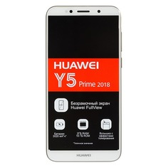 Смартфон HUAWEI Y5 Prime 2018 16Gb, золотистый