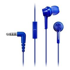 Гарнитура PANASONIC RP-TCM115GC, вкладыши, синий, проводные