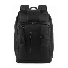Рюкзак Piquadro Brief CA4443BR/N черный натур.кожа/ткань
