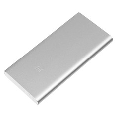 Внешний аккумулятор XIAOMI Mi Power Bank 2S, 10000мAч, серебристый