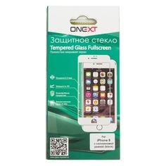 Защитное стекло для экрана ONEXT для Apple iPhone 8, 1 шт, черный [41498]