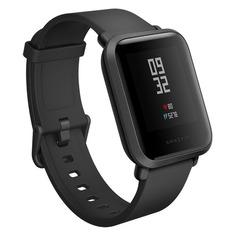 """Смарт-часы XIAOMI Amazfit Bip, 1.28"""", черный / черный"""