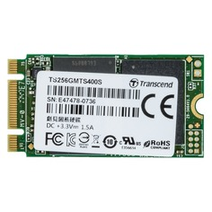 SSD накопитель TRANSCEND TS256GMTS400S 256Гб, M.2 2242, SATA III