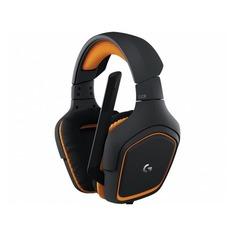 Наушники с микрофоном LOGITECH G231 Prodigy, 981-000627, накладные, черный / оранжевый