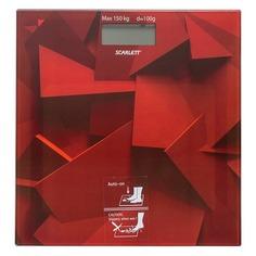 Напольные весы SCARLETT SC-BS33E086, до 150кг, цвет: темно-красный/рисунок [sc - bs33e086]