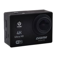Экшн-камера DIGMA DiCam 210 4K, WiFi, черный [dc210]