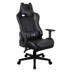 Кресло игровое AEROCOOL AC220 AIR-B, на колесиках, ПВХ/полиуретан [516343]