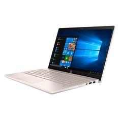 """Ноутбук HP 14-ce0022ur, 14"""", Intel Core i5 8250U 1.6ГГц, 8Гб, 256Гб SSD, nVidia GeForce Mx150 - 2048 Мб, Windows 10, 4GY60EA, розовое золото"""