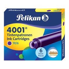 Картридж Pelikan INK 4001 TP/6 (301697) фиолетовые чернила для ручек перьевых (6шт) Пеликан