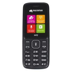 Мобильный телефон MICROMAX X412 черный/серый