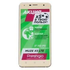 Смартфон PRESTIGIO Muze X5 LTE золотистый