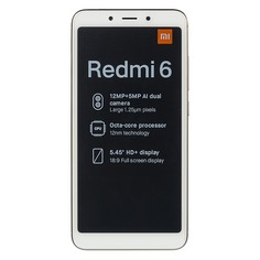 Смартфон XIAOMI Redmi 6 64Gb, золотистый