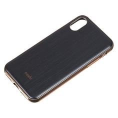 Чехол (клип-кейс) Moshi iGlaze, для Apple iPhone X, черный [99mo101001] Noname
