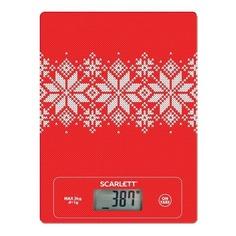 Весы кухонные SCARLETT SC-KS57P40, рисунок/снежинки