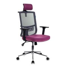Кресло руководителя БЮРОКРАТ MC-612-H, на колесиках, розовый/серый [mc-612-h/dg/berry]