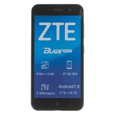 Смартфон ZTE Blade A520, серый