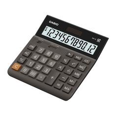 Калькулятор CASIO DH-12, 12-разрядный, коричневый