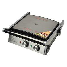 Электрогриль GFGRIL GF-180 Waffle&Grill&Griddle, серебристый и черный