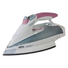 Утюг BRAUN TS755EA, 2400Вт, белый/ розовый [0x12711096]