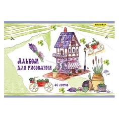 Альбом для рисования Silwerhof 442073/911156-74 40л. A4 Прованс 2диз. мел.картон гребень