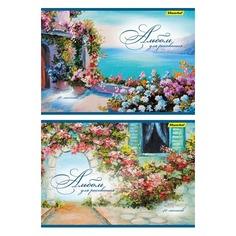 Альбом для рисования Silwerhof 442058/911150-74 40л. A4 Вид на море 2диз. мел.картон офс.лак скрепка
