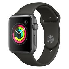 Смарт-часы APPLE Watch Series 3 42мм, темно-серый / серый [mr362ru/a]