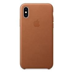 Чехол (клип-кейс) APPLE MRWP2ZM/A, для Apple iPhone XS, коричневый
