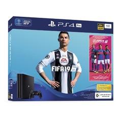 Игровая консоль SONY PlayStation 4 Pro с 1 ТБ памяти, игрой FIFA 19, CUH-7108B, черный