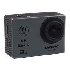 Экшн-камера DIGMA DiCam 410 4K, WiFi, серый [dc410]