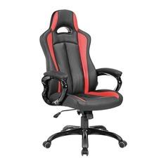 Кресло игровое БЮРОКРАТ CH-827, на колесиках, искусственная кожа, черно-красный [ch-827/bl+red]